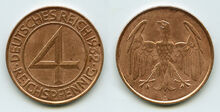 4 Reichspfennige 1932 A J315