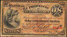 Argentina 8 centesimos fuertes 1869 obv