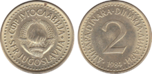 Yugoslavia 2 dinara 1984