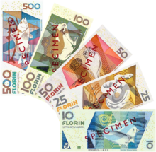 Aruban florin notes