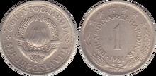 Yugoslavia 1 dinar 1981