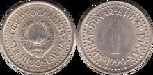 Yugoslavia 1 dinar 1990