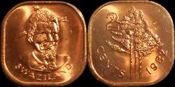 Swaziland 2 cents 1982