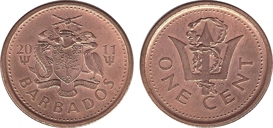 Barbadian 1 cent coin | Currency Wiki | FANDOM powered by Wikia