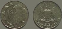 Namibia 1 dollar coin 2002