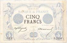 5 FRF 1873 obv