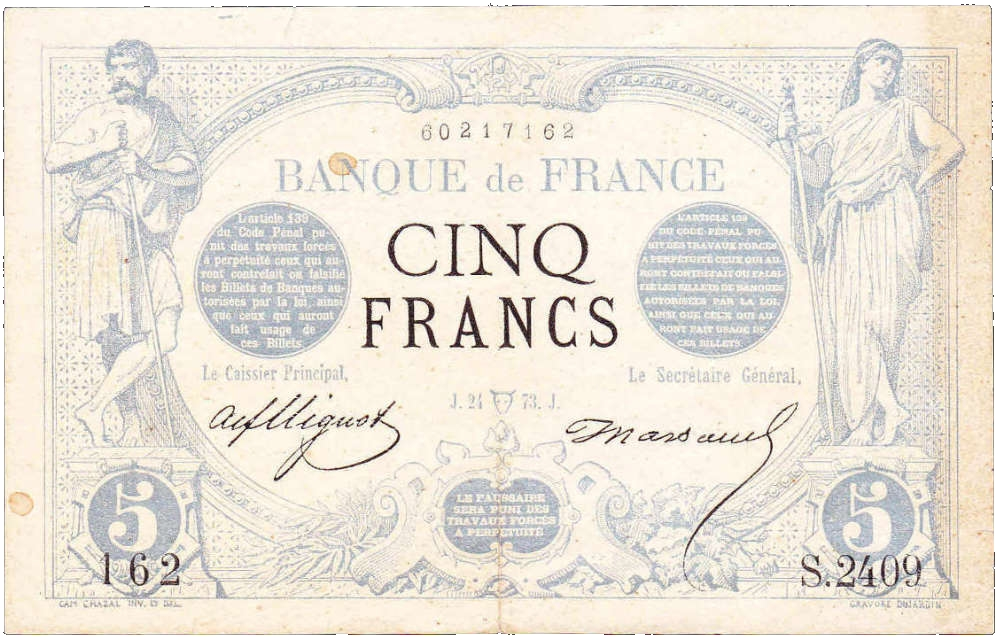 One Peso Was Initially Equal To 5 French Francs