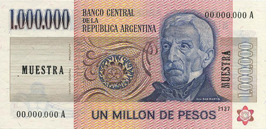 Image Argentina Million Pesos Ley Obvg Currency Wiki Fandom