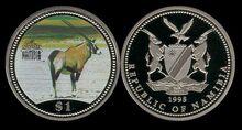 Namibia 1 dollar 1995