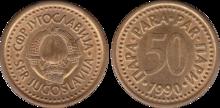 Yugoslavia 50 para 1990