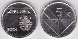 Aruba 5 cents 2001
