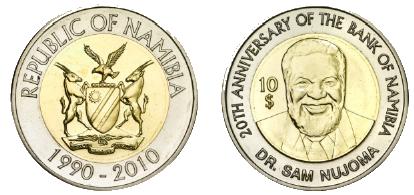 File:Namibia-Dollar 10 - Gedenkmuenze.png