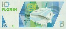 Aruba 10 florin 1990 obv