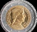 Latvian 2 euro coin