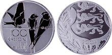 Platinum coin 100kr Estonia 2008