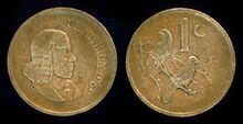South Africa 1 cent 1969 en
