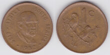 South Africa 1 cent 1982