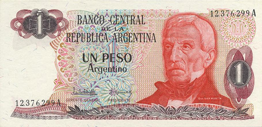 Image Argentina 1 Peso 1983 Obvg Currency Wiki Fandom