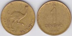 Argentina 1 centavo 1985
