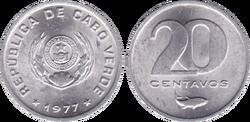 Cape Verde 20 centavos 1977