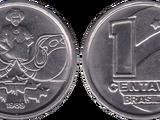 Brazilian 1 centavo coin (cruzado)