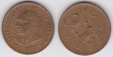 South Africa 1 cent 1979