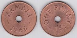Zambia penny 1966