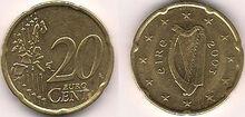 Ireland 20 eurocent coin 2003