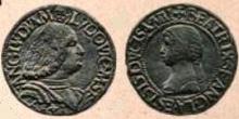 Ludovico Sforza & Beatrice testone 1497