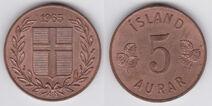 Iceland 5 aurar 1965