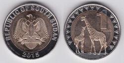 South Sudan 1 pound 2015