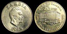 Zambia 20 ngwee 1985 BoZ