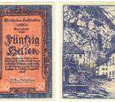 Liechtenstein 50 heller banknote