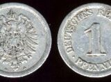 German 1 pfennig coin (1873-1918)