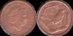 Cayman Islands 1 cent 2002
