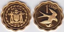 Belize 1 cent 1975 kite