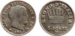 5 soldi 1813 M