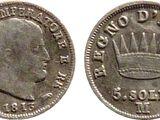 Italian 5 soldo coin (Napoleonic Kingdom of Italy)