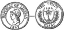Liberia 10 cents 1864