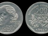 Central African Republic 500 franc coin