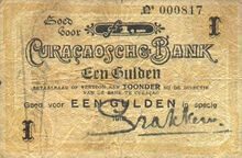 Curacao 1 guilder 1918 obv