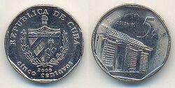 Cuba 5 centavos 2000