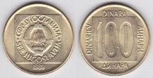 Yugoslavia 100 dinara 1989
