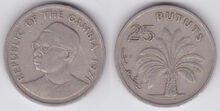 Gambia 25 bututs 1971