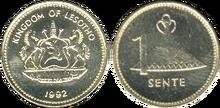 Lesotho 1 sente 1992 brass