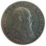 5 Mark Sachsen-Meiningen Georg II 75 Jahre
