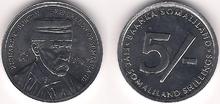 Somaliland 5 shillings 2002 RF Burton