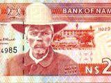 Namibian 20 dollar banknote