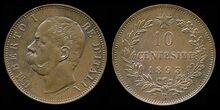 Italy 10 centesimi 1893