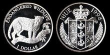 Niue 1 dollar 1996 Jaguar